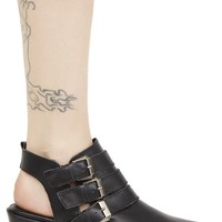 Nappa Cut-Out Bootie