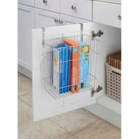 InterDesign Classico Over Cabinet Waste and Storage Basket, Chrome - Walmart.com