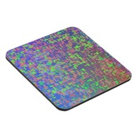 Colorful Green Purple Blue Abstract Coaster
