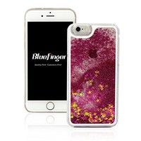 NSSTAR Fashion Creative Design Flowing Liquid Floating Luxury Bling Glitter Sparkle Love Heart Hard Case for Apple iPhone 6S, iPhone 6 - Love Blue Pattern