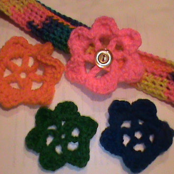 Children's Crochet Headband With Flowers by CrochetCreationsbyLP