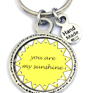 You Are My Sunshine Framed Resin Key Chain