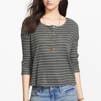 Free People 'Garvey' Stripe Cotton Henley | Nordstrom