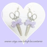 Scissor charm earrings