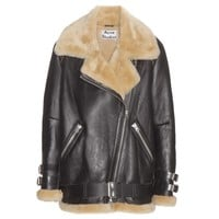 Velocite shearling-lined leather jacket