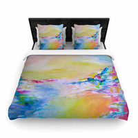 "Ebi Emporium ""Something About the Sea"" Yellow Multicolor Woven Duvet Cover"