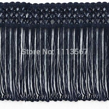 10yard Craft Braided 17cm Black Polyester Fringe Tassel Trimming Lace Trim For Latin Dress Samba Stage Clothes Curtain Shoes