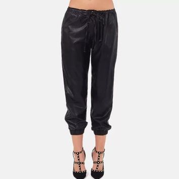 Liquid Faux Leather Pants