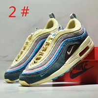 NIKE Air Max Sean Wotherspoon 97 New fashion embroidery hook colorful contrast color sports leisure couple shoes