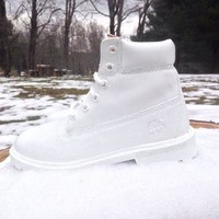 White Timberland Boots (Womens sizes)