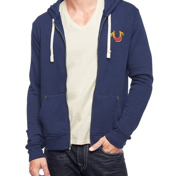 True Religion Hand Picked Buddha Fest 71 Mens Hoodie - Navy