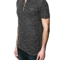BUTTON NECK T-SHIRT - Knitwear - Man - ZARA United States