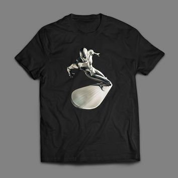 THE SILVER SURFER SPACE SURFING ART T-SHIRT