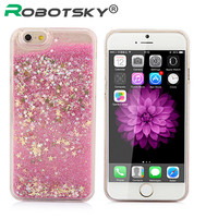 Luxury Fashion Liquid Glitter Sand Star Quicksand Clear Cover Case For Apple iPhone 6S 6SPlus 6S Plus Phone Cases