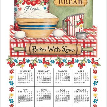 Calendar Towel 2020 - Bake With Love