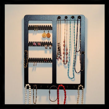 earring holder jewelry rack COMBO frame wood necklace display