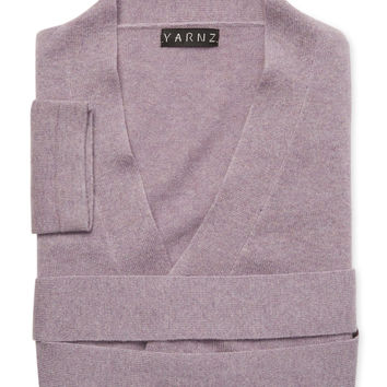 Yarnz Cashmere Knit Robe - Purple