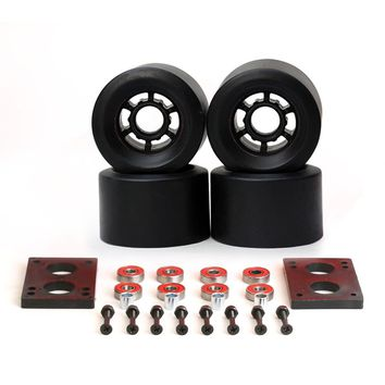 82A Skateboard Wheels 87*52mm Long Board City Run 83*52mm Wheels 6mm Riserpad 35mm Bolts ABEC-9 Bearing Big Longboard Wheels