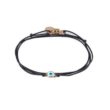 Dafne | Lucky Eye Black Wrap Bracelet