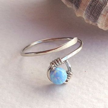 Toe-Midi-Knuckle Spiral Swirl Ring Adjustable Size Gemstone,Pearl,Swarovski | eBay