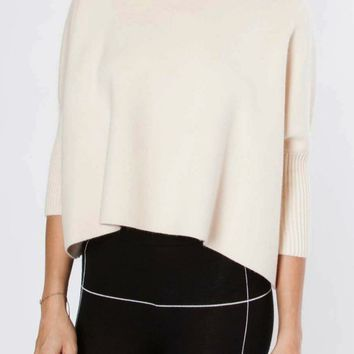 Aja Crop Sweater in Ecru