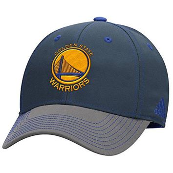 Adidas Golden State Warriors Cap Structured Flex Hat Two Tone S/M and L/XL