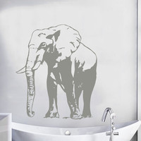 Indian Elephant Wall Decal Pet Shop Vinyl Stickers Safari Decals Art Mural Bathroom Home Design Interior Wild Animal Living Room Decor KY119