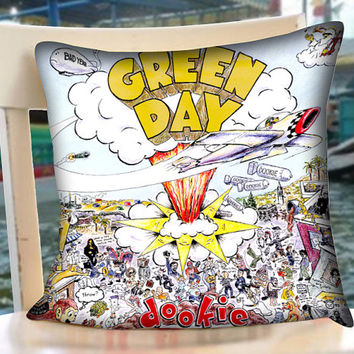 Green Day Dookie - Pillow Case.Pillow Cover,Retro Pillow,Throw Pillow