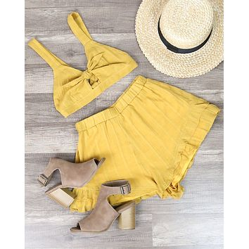 Reverse - Mustard Linen Two Piece Set