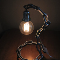Minimalistic Industrial Chain Table Lamp