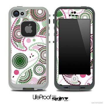 Pink & Green Floral Paisley Skin for the iPhone 5 or 4/4s LifeProof Case