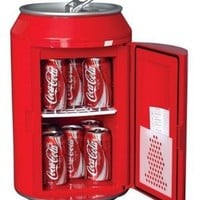 Koolatron CC10G Coca-Cola Can-Shaped 8-Can-Capacity Fridge, Red:Amazon:Appliances