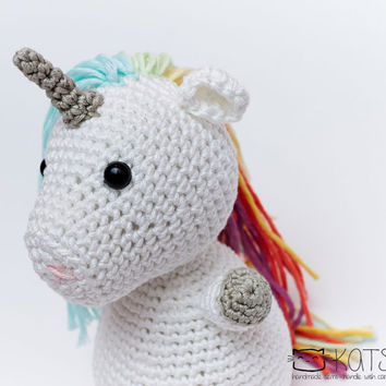 Unicorn Amigurumi Crochet Soft Cotton Toy