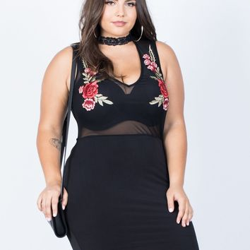 Plus Size Rosey Party Dress