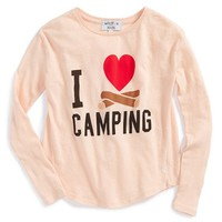 Girl's Wildfox 'I Heart Camping' Graphic Tee