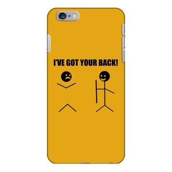 i've got your back t shirt tee funny novelty tee pun stick figure joke iPhone 6/6s Plus Case