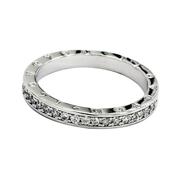 simple row with crystal ring