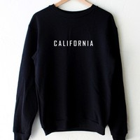 California Oversized Sweatshirt - Black