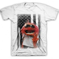 Disney The Muppets American Animal Adult White T-Shirt