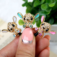 Stitch Anime Character Crystal Earphone Cap Dust Plug Cellphone Accessories