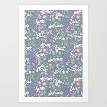 How Does Your Garden Grow Art Print by Noonday Design | Society6
