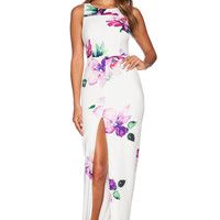 Toby Heart Ginger Enchanted Maxi Dress in Purple Floral Print