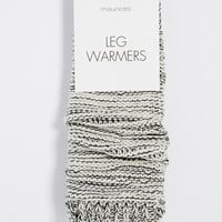 marled thick stitch leg warmers