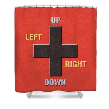 Gamer Directions Shower Curtain