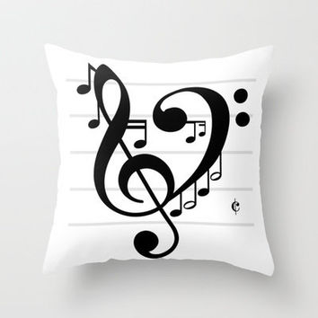 Love Music II Throw Pillow by Richard Casillas | Society6
