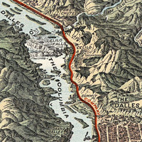 1905 Map of the Columbia River Gorge