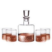 FITZ&FLOYD Daphne Decanter Set (5 PC) - Rust/Copper