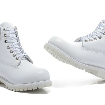 hcxx Timberland Rhubarb Boots 2018 White  Waterproof Martin Boots