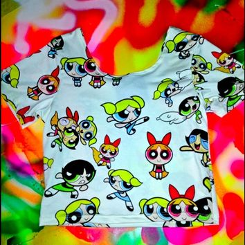 SWEET LORD O'MIGHTY! Powerpuff Girls Crop Top