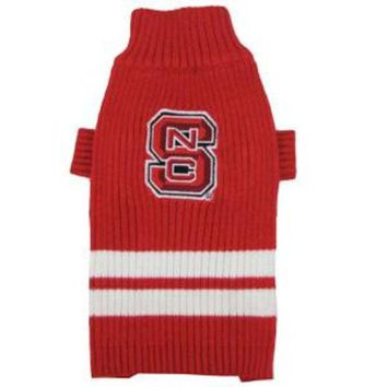 LMFHJ2 North Carolina State Wolfpack Pet Sweater SM